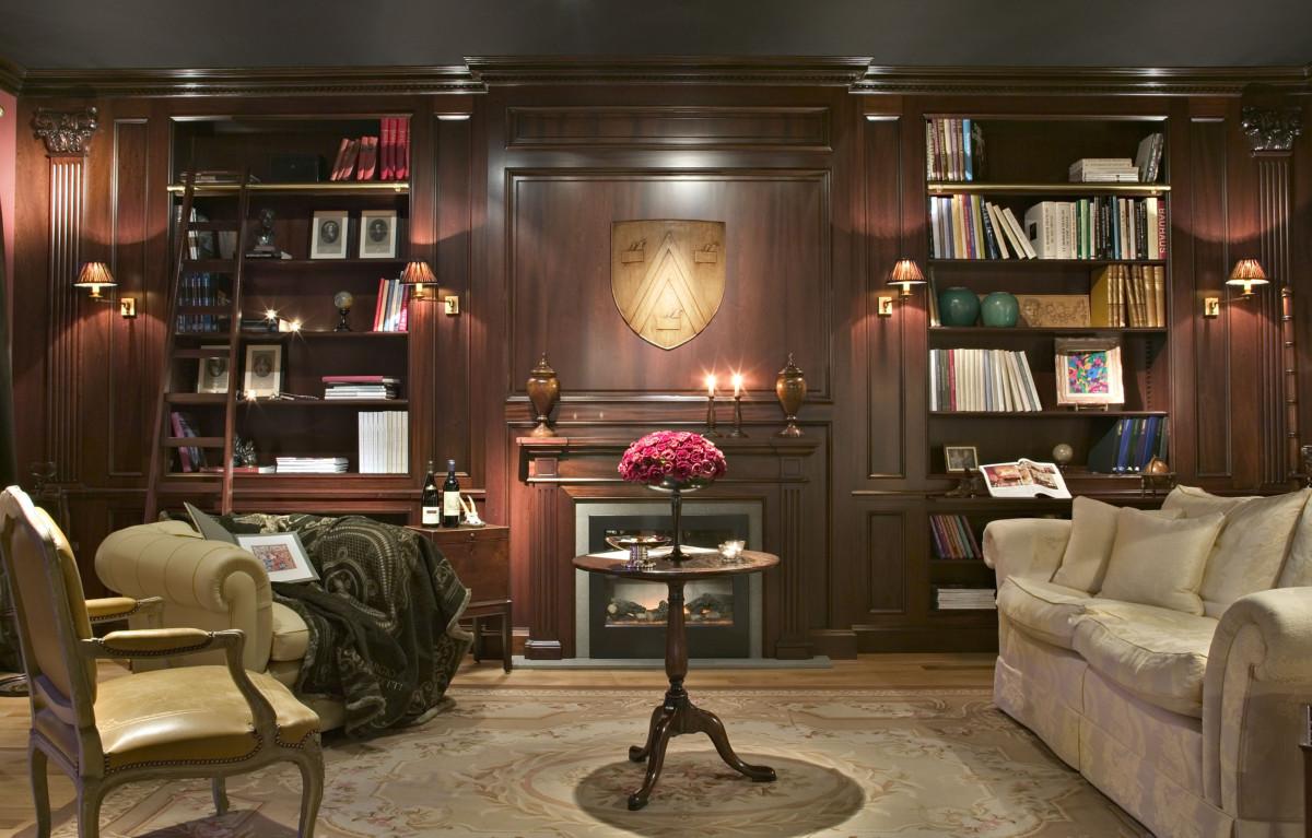 Custom made library design - Lefèvre Interiors Belgium